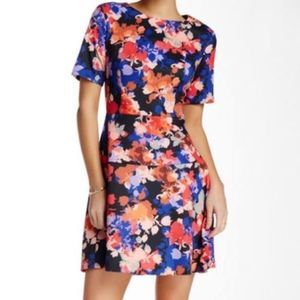 CeCe Cynthia Steffe Fit&Flare Floral Dress